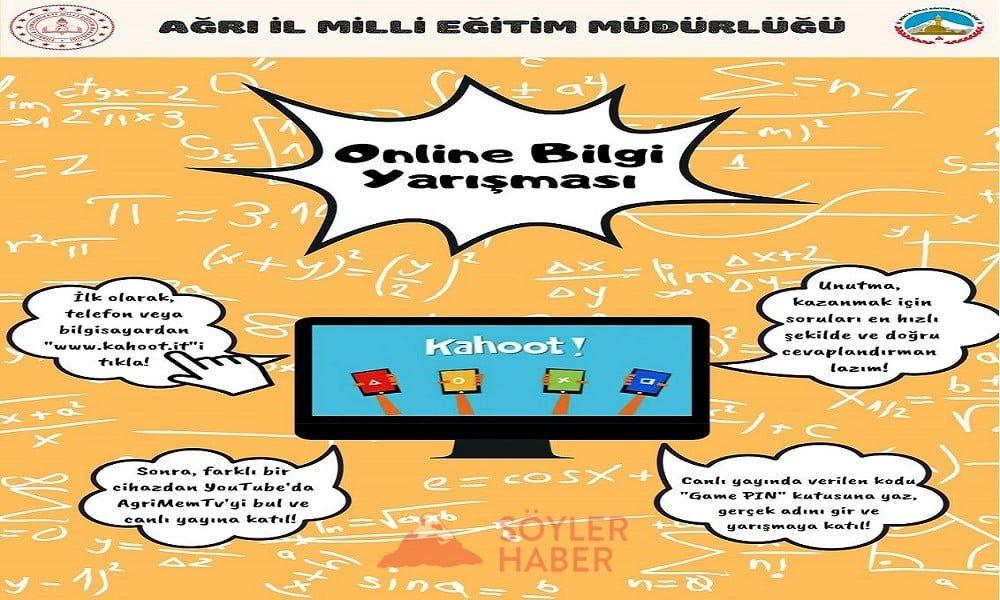 """Ağrı'da lise öğrencilerine yönelik """"Online Bilgi Yarışması"""""""