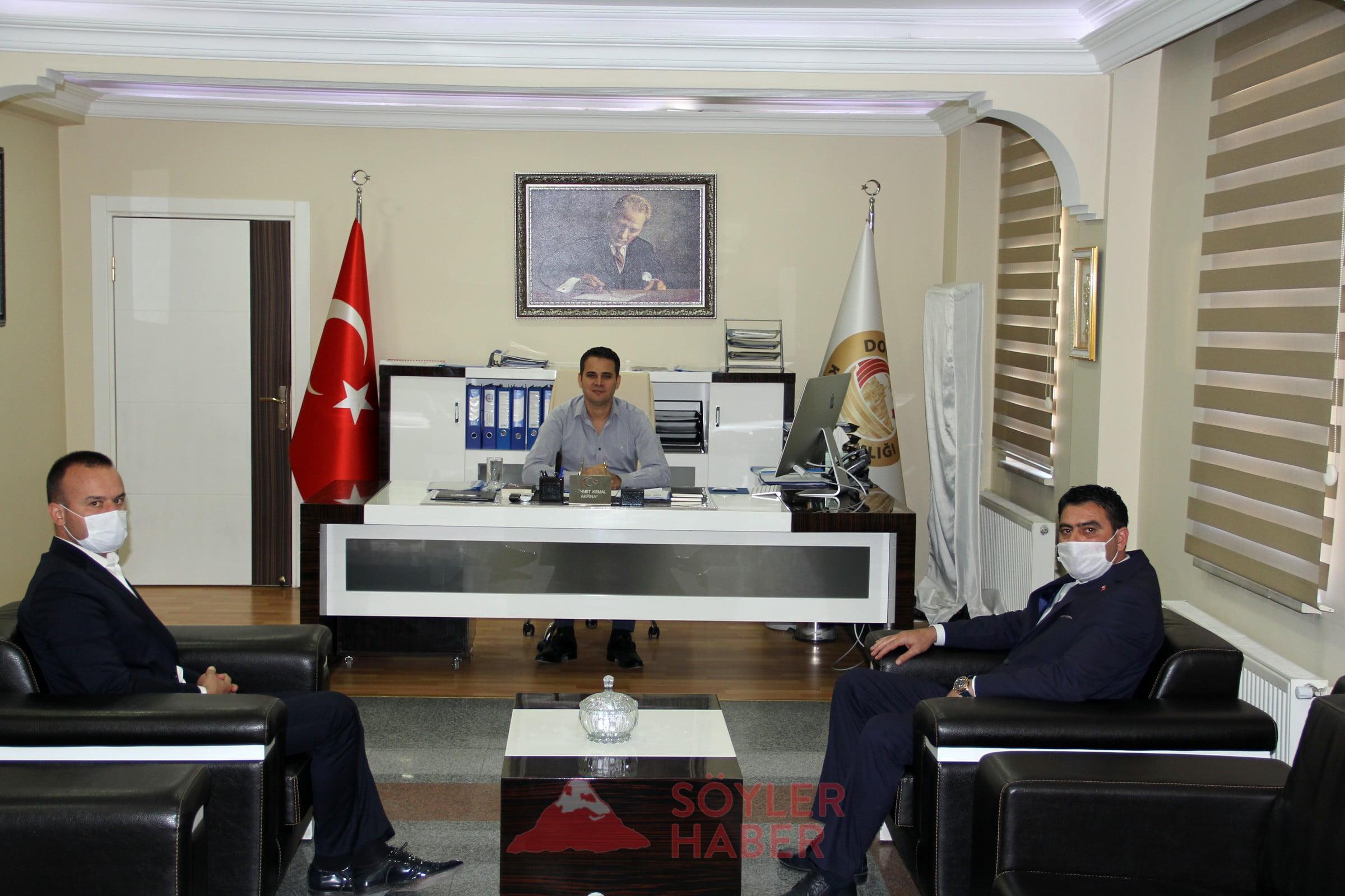 TEKİN'DEN AKPINAR'A HAYIRLI OLSUN ZİYARETİ