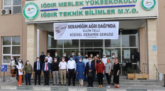 Iğdır Üniversitesi Tarafından Seramiğim Ağrı Dağı'nda' Konulu Sergi Düzenlendi