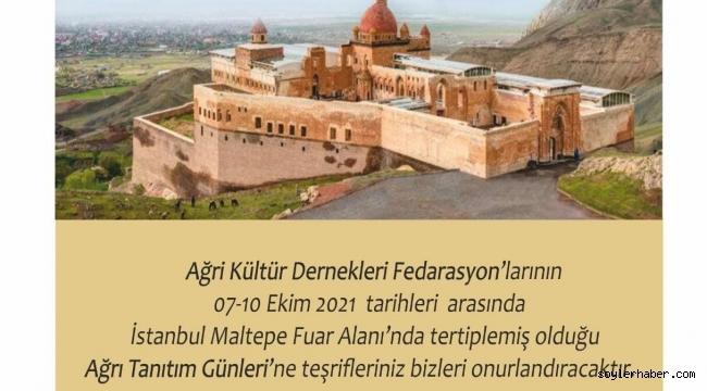 7-10 EKİM İSTANBUL MALTEPE FUARINDA AĞRI TANITIM GÜNLERİ